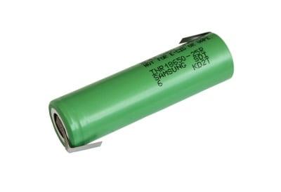 Акумулаторна батерия Samsung INR18650-25R 3.6V 2500mAh с пластини 180⁰