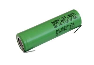 Акумулаторна батерия Samsung INR18650-25R 3.6V 2500mAh с пластини