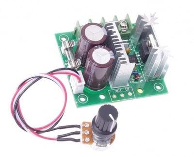 Регулатор на напрежение DC 10А PWM с изнесен потенциометър