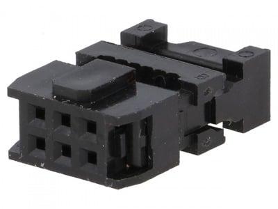 Конектор IDC 6 пин 1.27 мм, женски