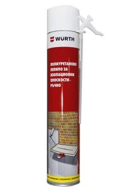Полиуретаново лепило за изолационни плоскости-ръчно; WURTH; 750mL