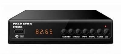 CT8265 комбиниран HD HEVC DVB-C, DVB-T/T2 приемник с iptv