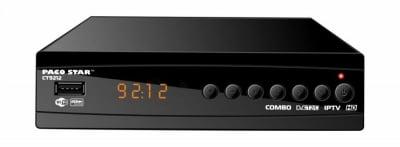 CT9212 комбиниран HD кабелен и ефирен DVB-C, DVB-T/T2 приемник с iptv
