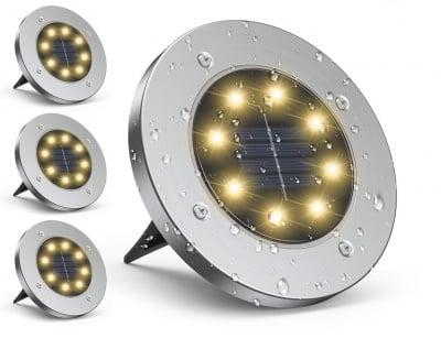 Соларно подово осветление от неръждаема стомана SS-6059 / 3 броя