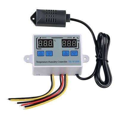 Цифров регулатор на температурата и влажността за инкубатор 0 до 100C AC 220V
