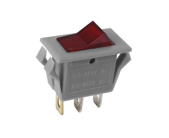 Ключ - светещ, позиции: 2, SPDT, OFF-ON, 10A/250VAC