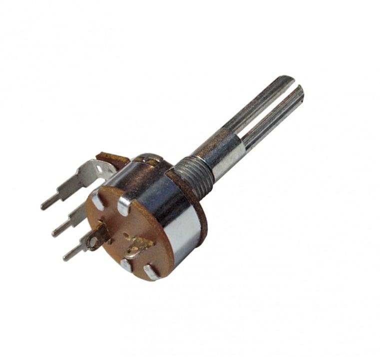 Потенциометър 1MΩ моно, линеен с ключ