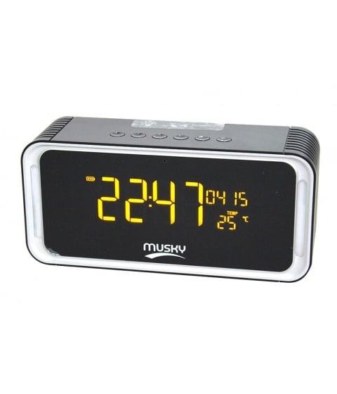 Радио колонка с блутут, часовник DY-33 Bluetooth/USB/SD/AUX/FM