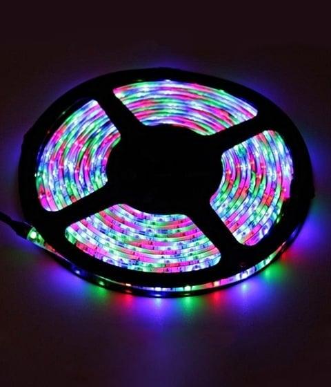 Светодиодна лента трицветна 3528-60LED RGB